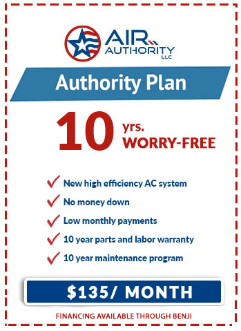 Air Authority LLC in San Antonio offers the Authority Plan to install a brand new Carrier unit with low monthly payments.