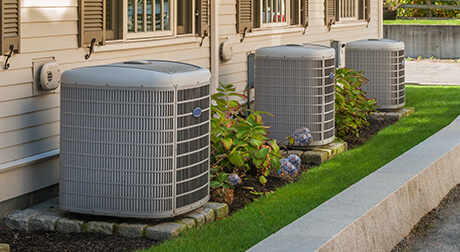 carrier ac units outside