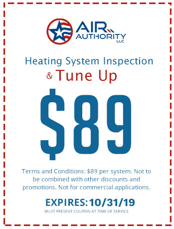 Heating System Inspection and Tune Up Coupon for $89. Air Authority LLC in San Antonio can serve all of your HVAC needs.