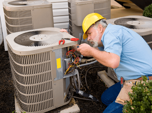 commercial hvac repair done by air authority tech