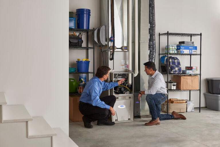 Home owner Furnace with Sales Rep